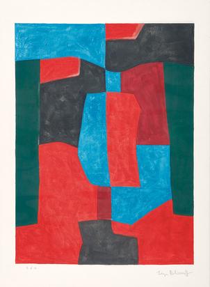 Poliakoff Serge, Composition rouge, verte et bleue