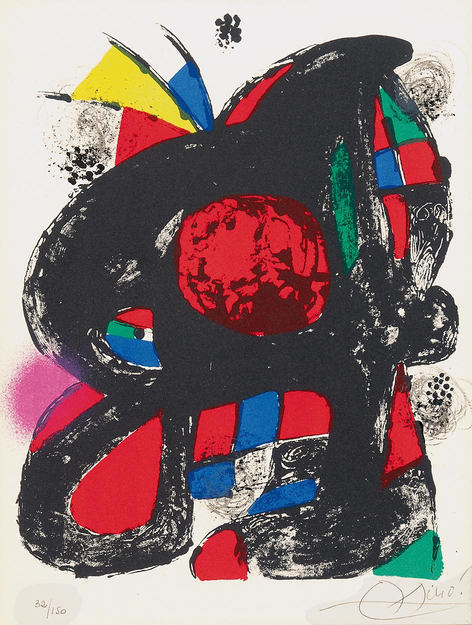 "Miró Joan, Sheet from ""Joan Miró, Lithographe IV"""
