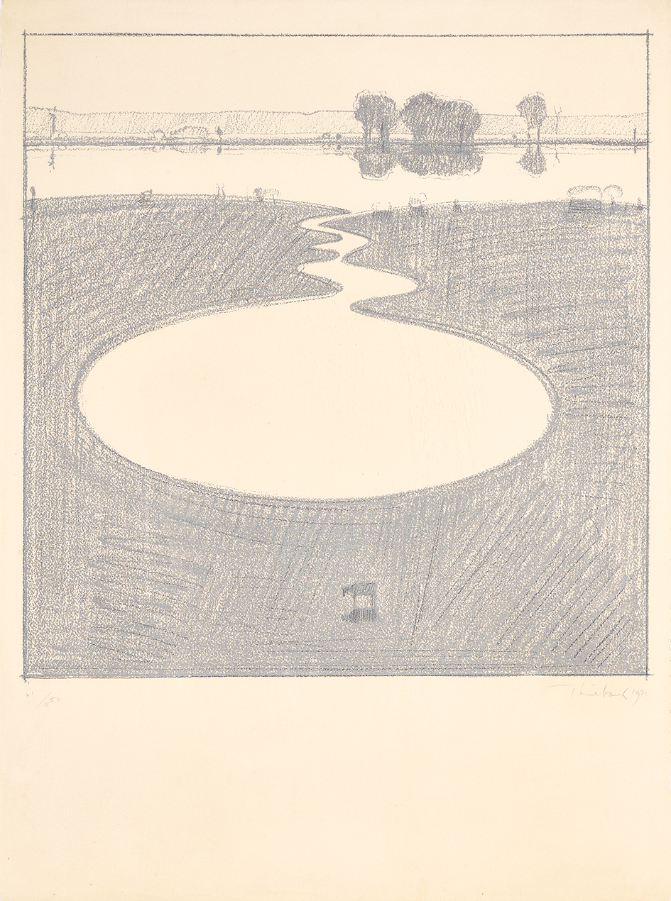 "Thiebaud Wayne, Silver Landscape, from ""Seven Still Lifes and a Silver Landscape"""