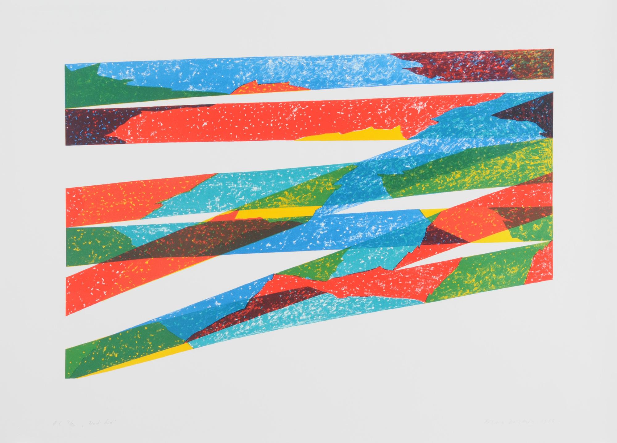 Dorazio Piero, 8 sheets: Senza titolo; Senza titolo, 1970; Monolithos, 1976; Nord-Süd, 1976; Senza titolo, 1976 (3); Senza titolo
