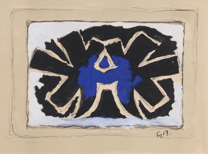 Braque Georges, 3 sheets: Pour St. Gallen