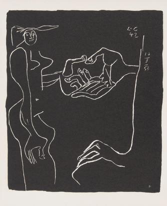 """Corbusier Le, 3 sheets from """"Entre-deux ou propos toujours reliés"""""""