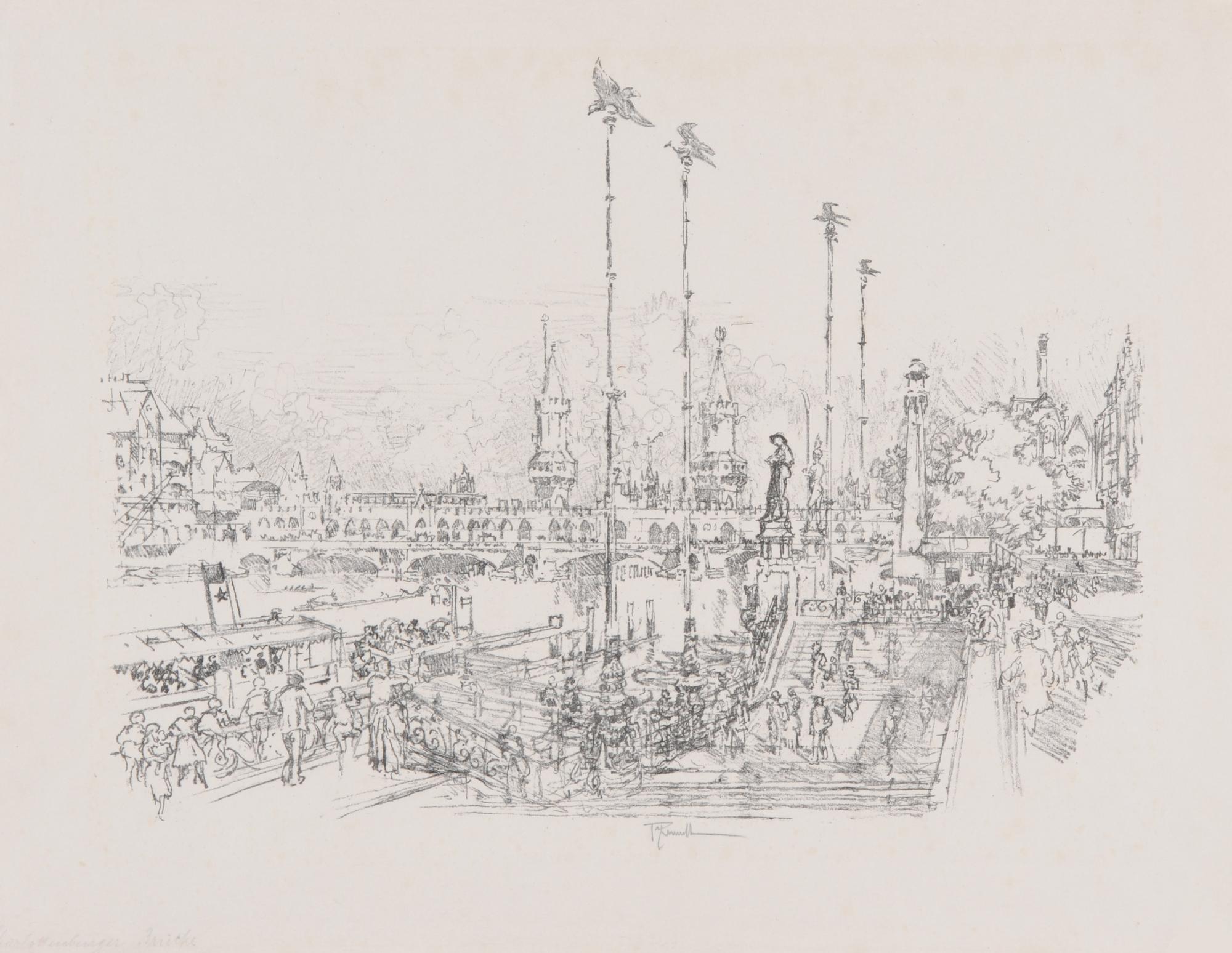 Pennel Joseph, 3 sheets: Charlottenburger Brücke; Wertheim Berlin; A&G Einfahrt
