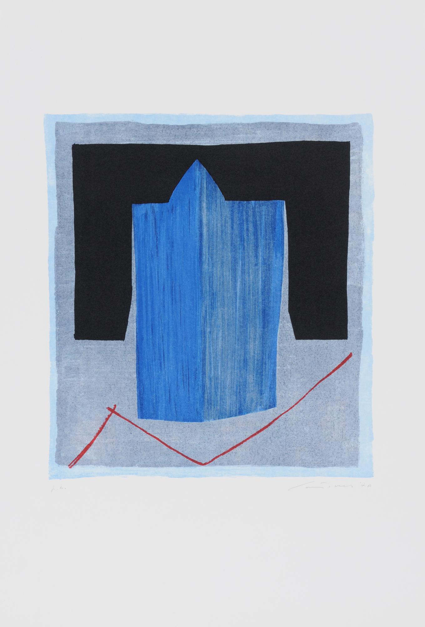 Santomaso Giuseppe, 5 sheets: Senza titolo; Senza titolo, 1971; Senza titolo, 1979; Senza titolo, 1986; Mozarabico