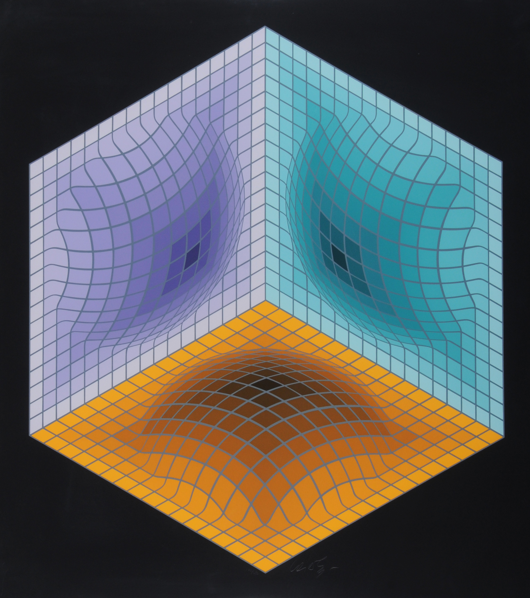 """Vasarely Victor, Sheet from """"Jalons"""""""