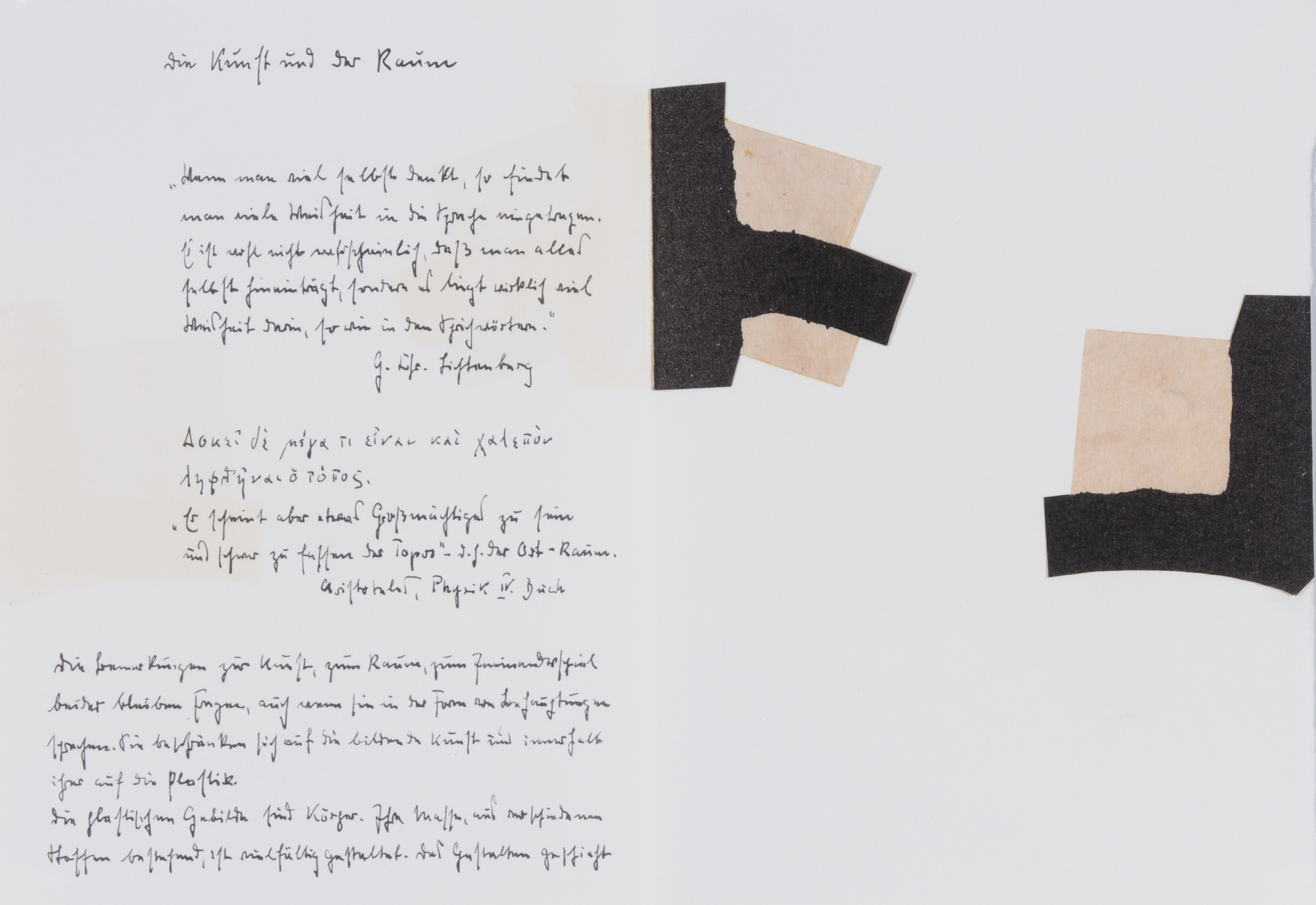 Chillida Eduardo, Book. Martin Heidegger: Die Kunst und der Raum