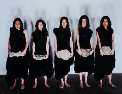 Breuning Olaf, 4 photographs: Cavewomen, 2001; Independance Day, 1997; Greenhorn, 1999; 11.8.99, 1999