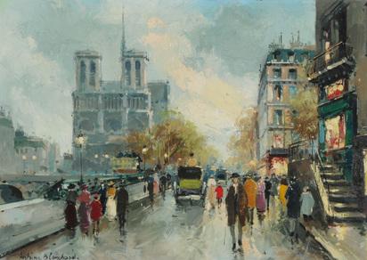 Blanchard Antoine, Le quai Saint-Michel et Notre-Dame