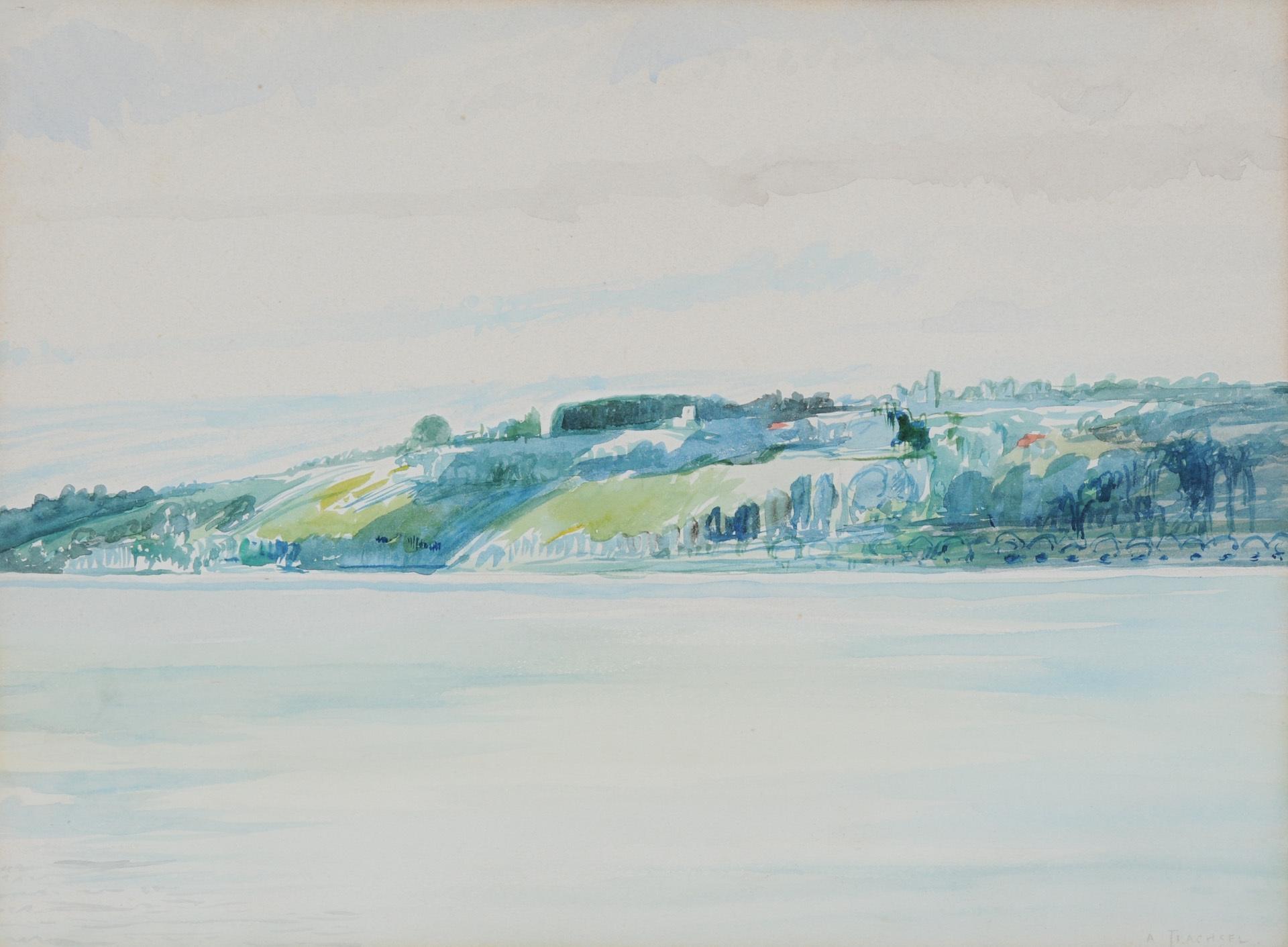 Trachsel Albert, Au bord du Lac Leman à Cologny