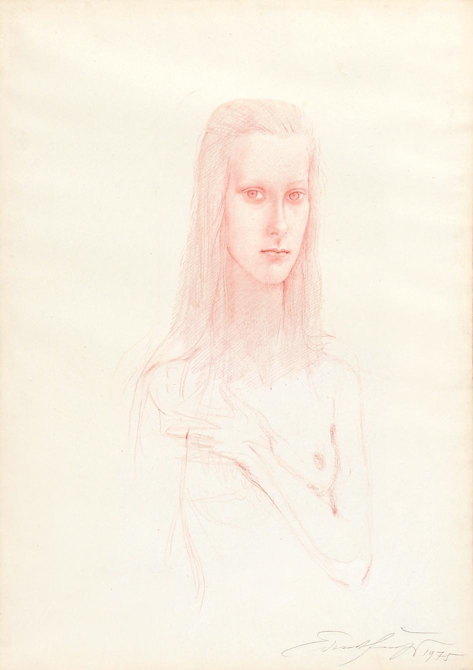 Fuchs Ernst, Portrait of a Girl