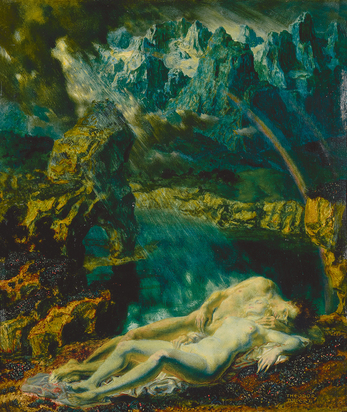 Baierl Theodor, Schlafendes Liebespaar