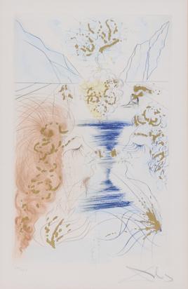 "Dalí Salvador, Der Kuss, from ""Das Hohe Lied des Salomon"""