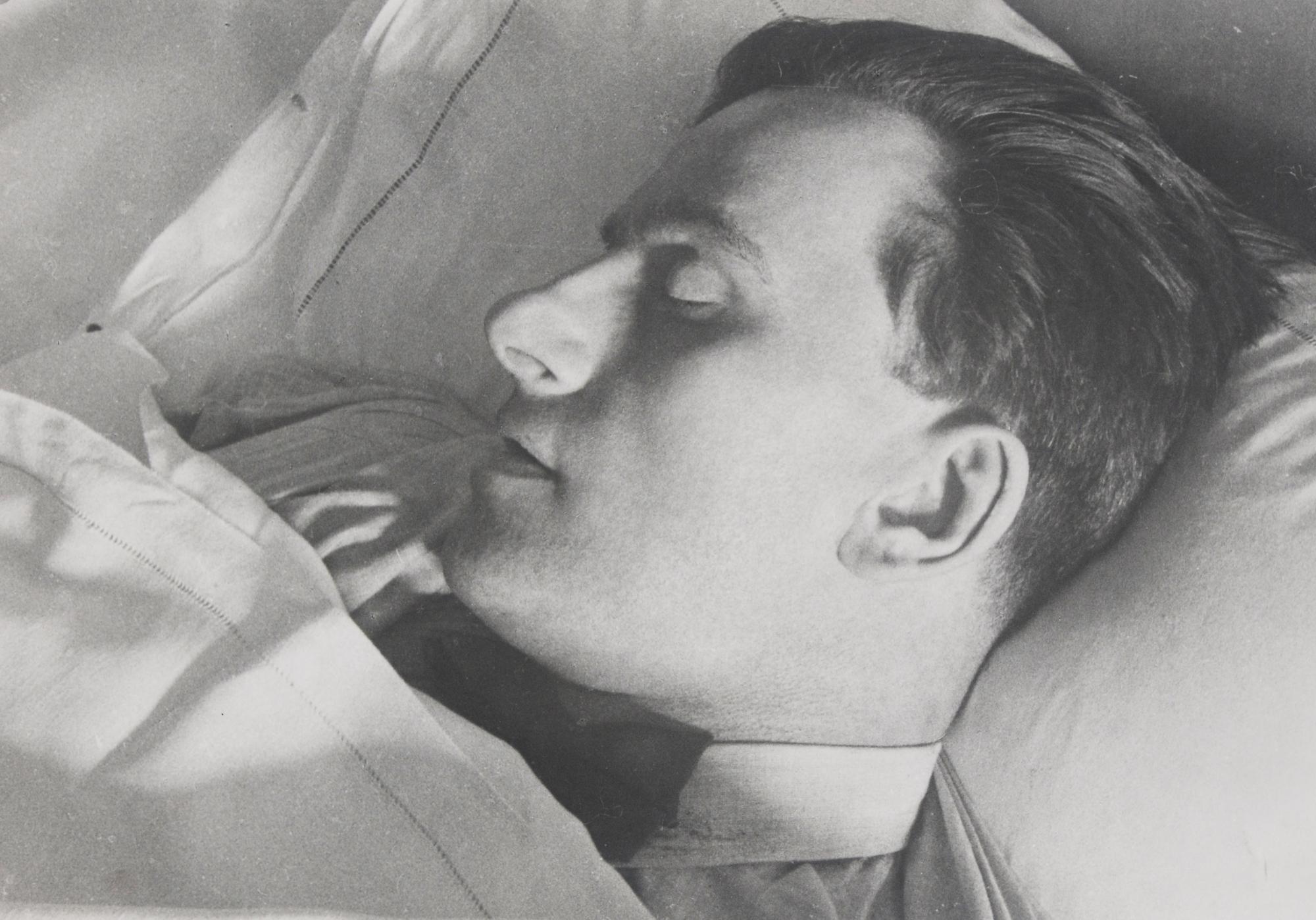 Rodtschenko Alexander, Wladimir Majakowski auf dem Sterbebett