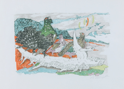 Carigiet Alois, Auerhahn und Perlhühner