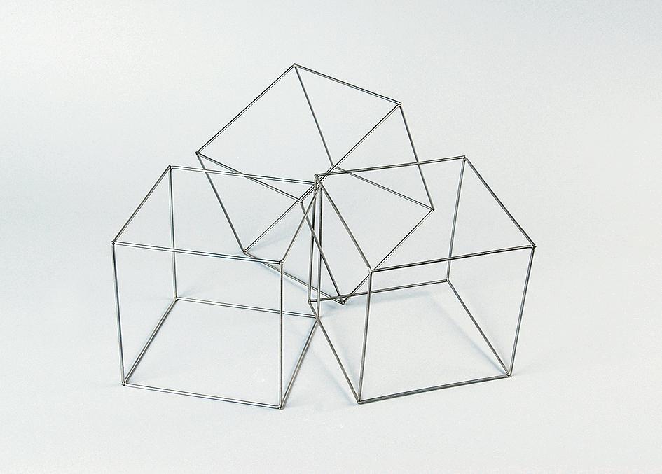 Morellet François, Trois cubes imbriqués
