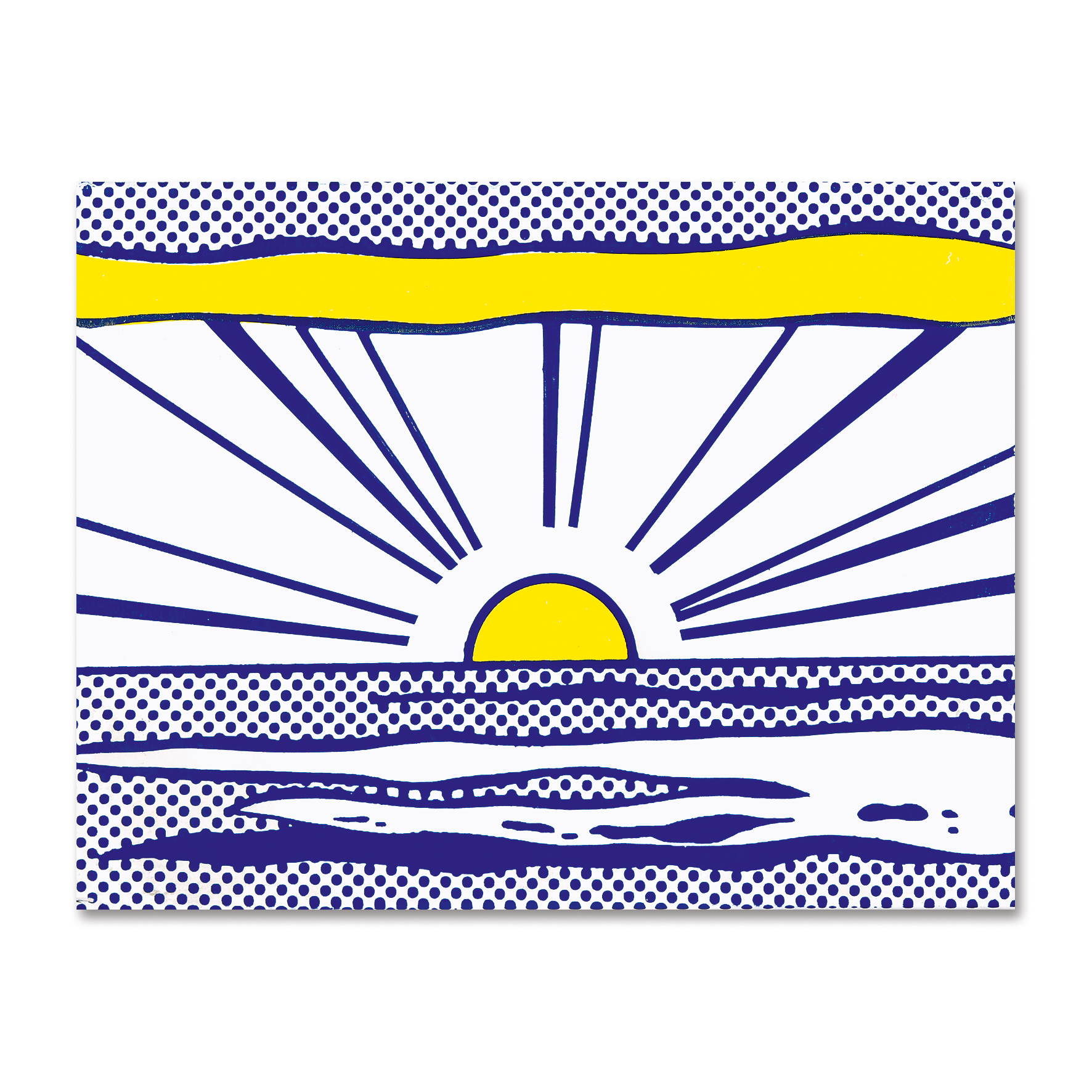 "Lichtenstein Roy, Sunrise, from ""Seven Objects in a Box"""