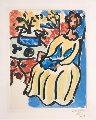 Matisse Henri, Marie-José en robe jaune