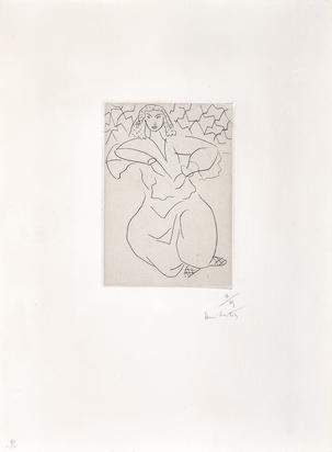 Matisse Henri, Orientale assise, voile sur la tête