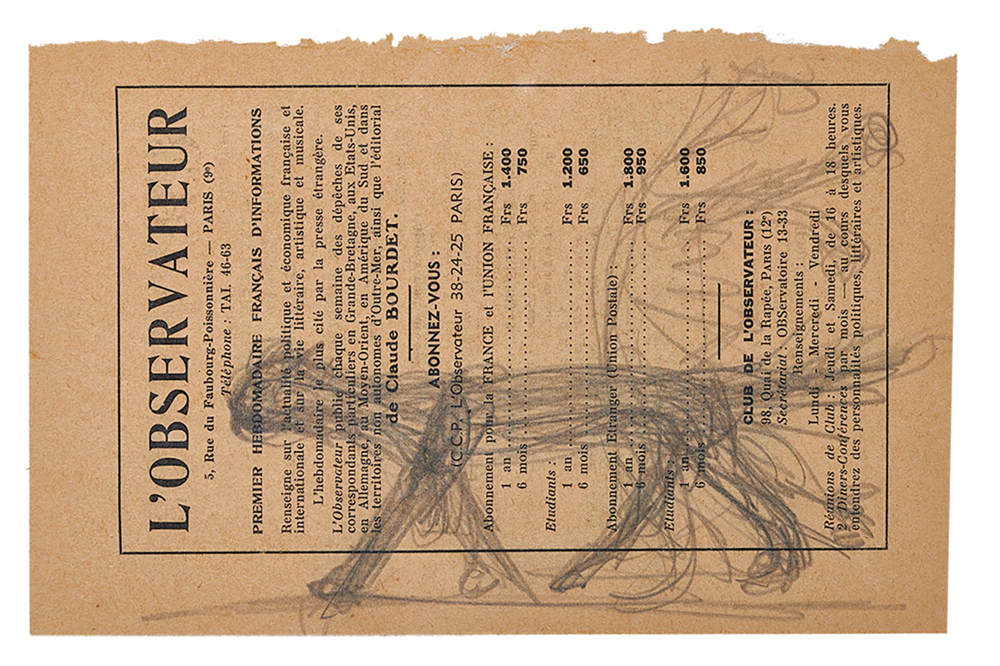 Giacometti Alberto, ****withdrawn****     Le chat