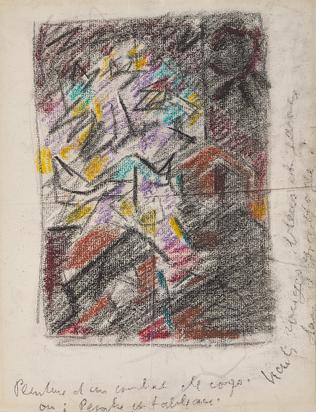 Masson André, Recto/verso: Peinture d'un combat de corps; Sans titre