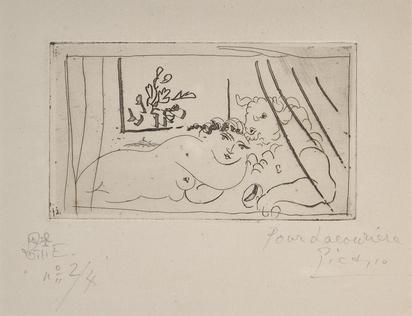 Picasso Pablo, Minotaure à la coupe et son amie