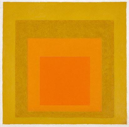 Study to Homage to the Square: 2 Orange with 2 pale Yellows