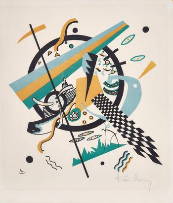 """Kandinsky Wassily, Composition IV, from """"Kleine Welten"""""""