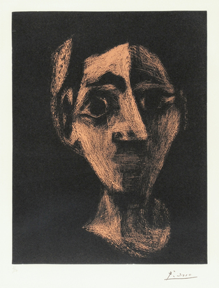 Picasso Pablo, Jaqueline au bandeau I