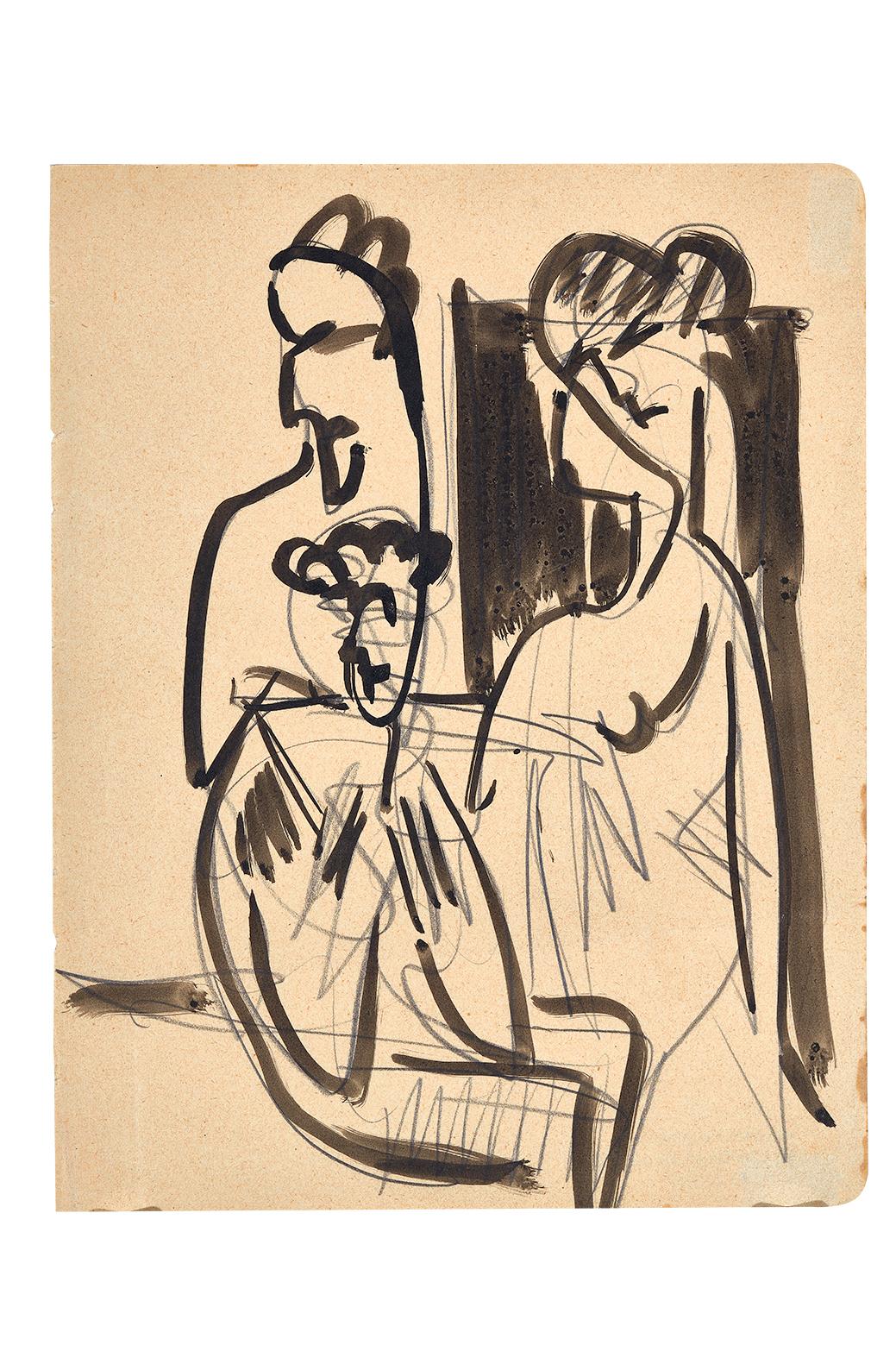 Kirchner Ernst Ludwig, Drei Figuren (Three Figures)
