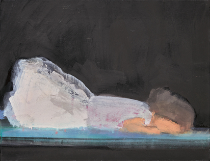 Ikemura Leiko, Reclining Female on Black