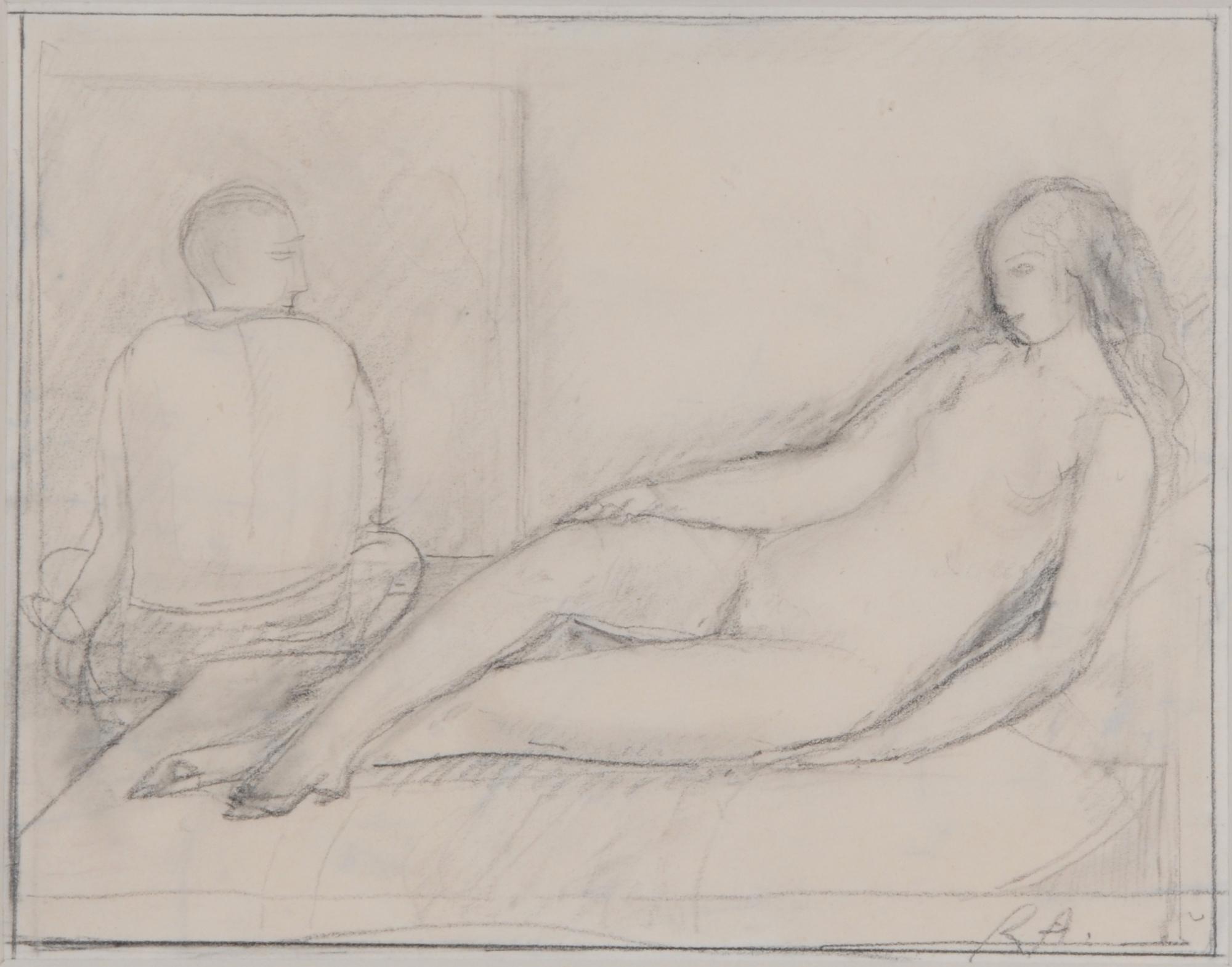 Auberjonois René, Le peintre et son modèle