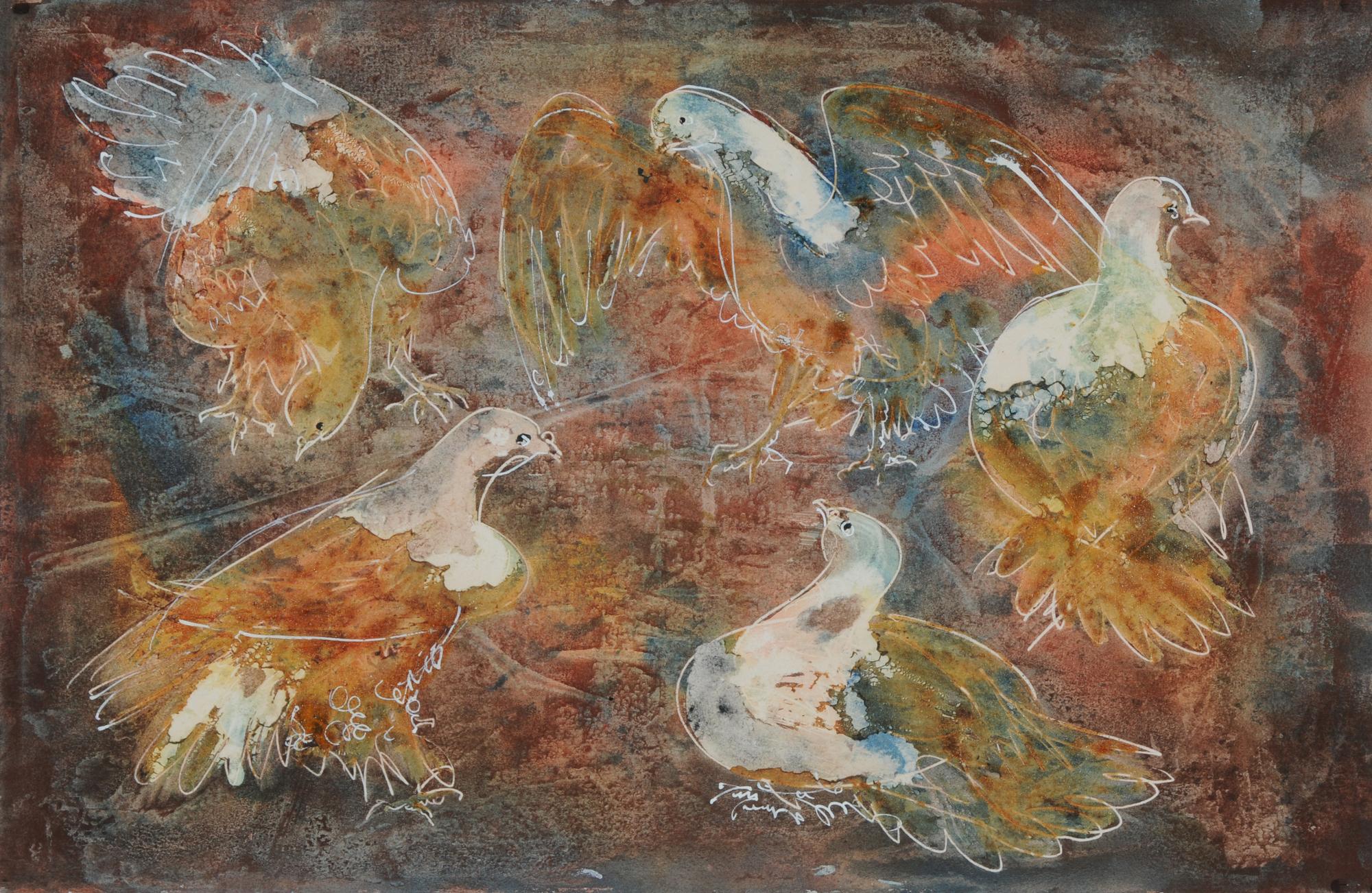 Erni Hans, Tauben (Pigeons)