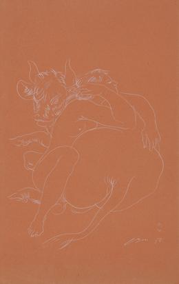 Erni Hans, Two Drawings: Europa, 1958; Wilhelm Tell