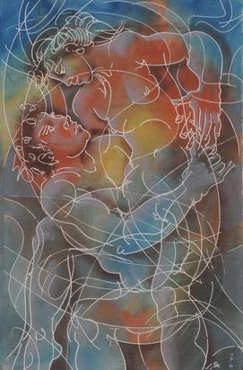 Erni Hans, Junges Paar (Young Couple)
