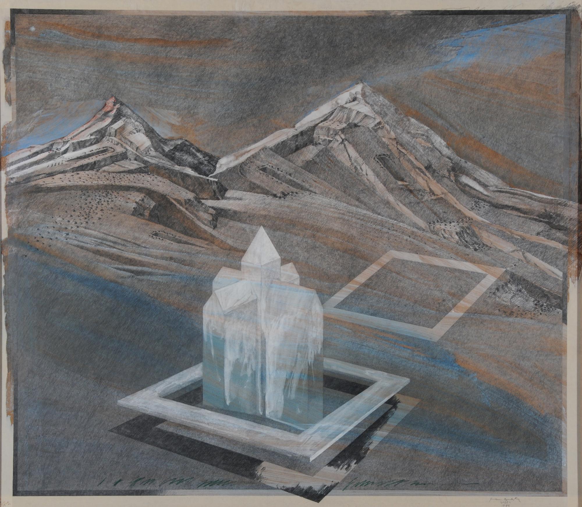 Wyss Franz Anatol, Landschaft mit Haus (Scenery with House)