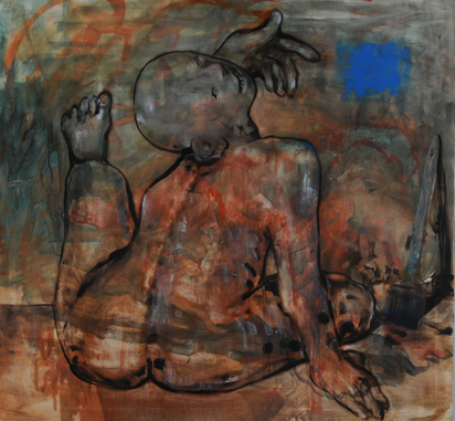 Witschi Hans, Maler mit Pinsel (Painter with Brush)