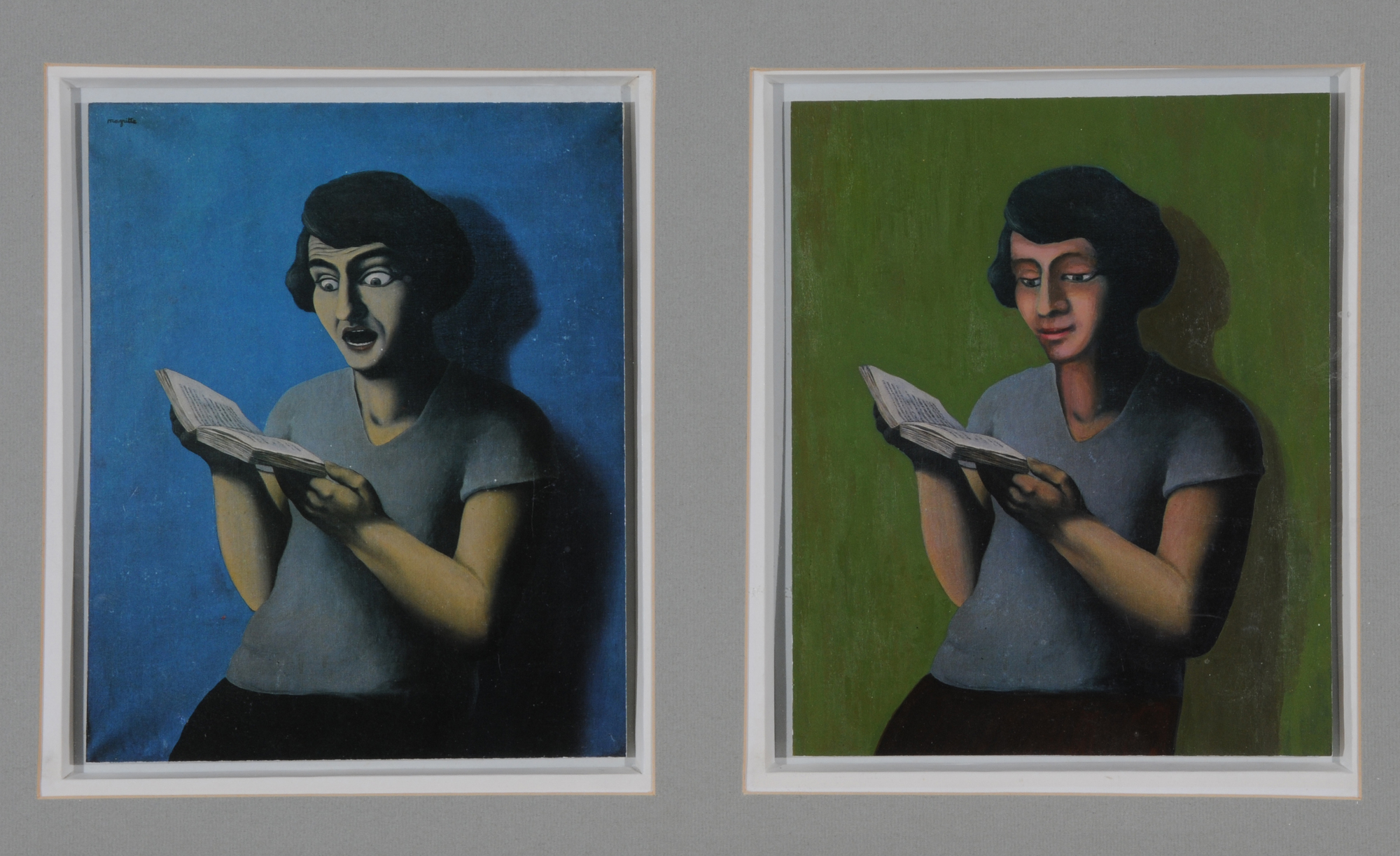 Schwarz Martin, Diptych. Untitled (The Submissive Reader, after Magritte)