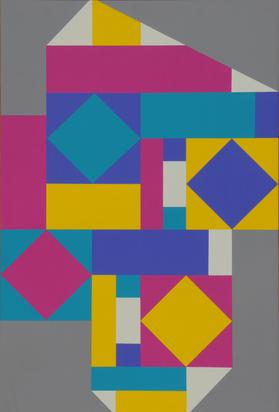 Goetz Willi, 2 paintings: Untitled; No. 20/93