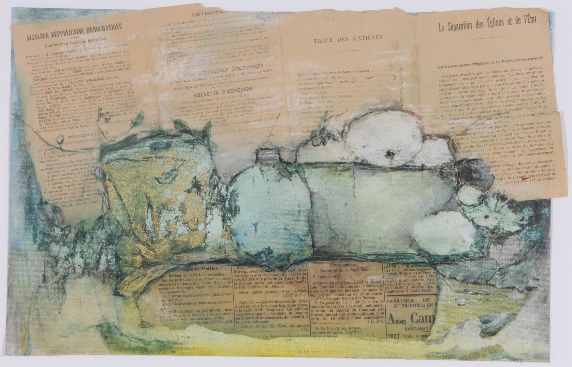 Bottet Nicole, 2 works: Sans titre; Sans titre, N° 36
