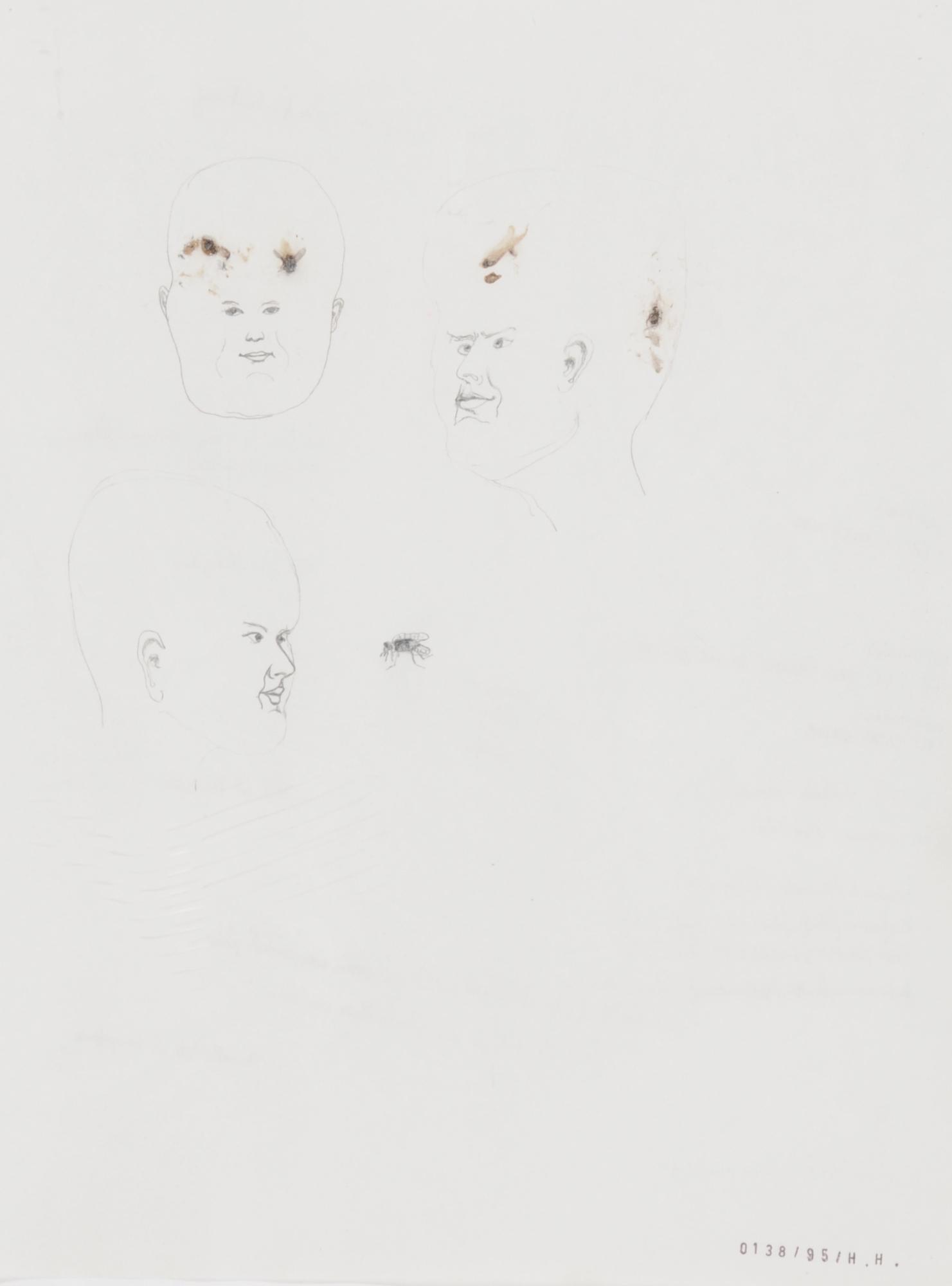 Hemmert Hans, 2 works: Political Correct Female Artist (139), 1995;  Untitled (138)