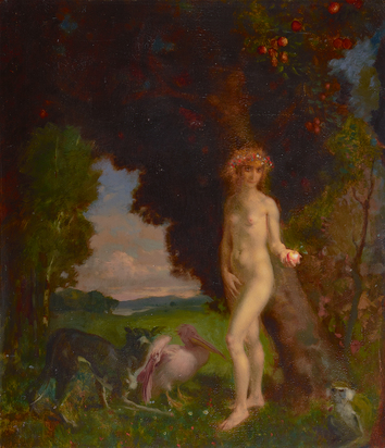 Baierl Theodor, Eva mit Tieren (Eve with Animals)