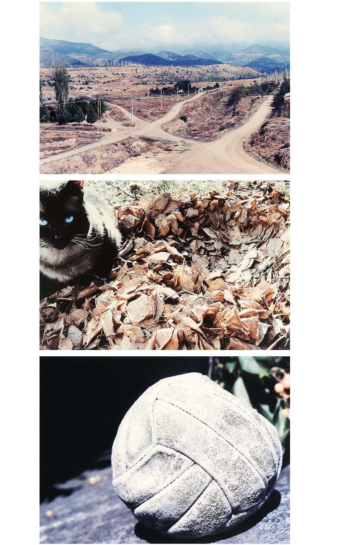Keiser Daniela, 3 photographs: Eine Strasse, 2004; Der Ball, 2005; Fremdes Mesl
