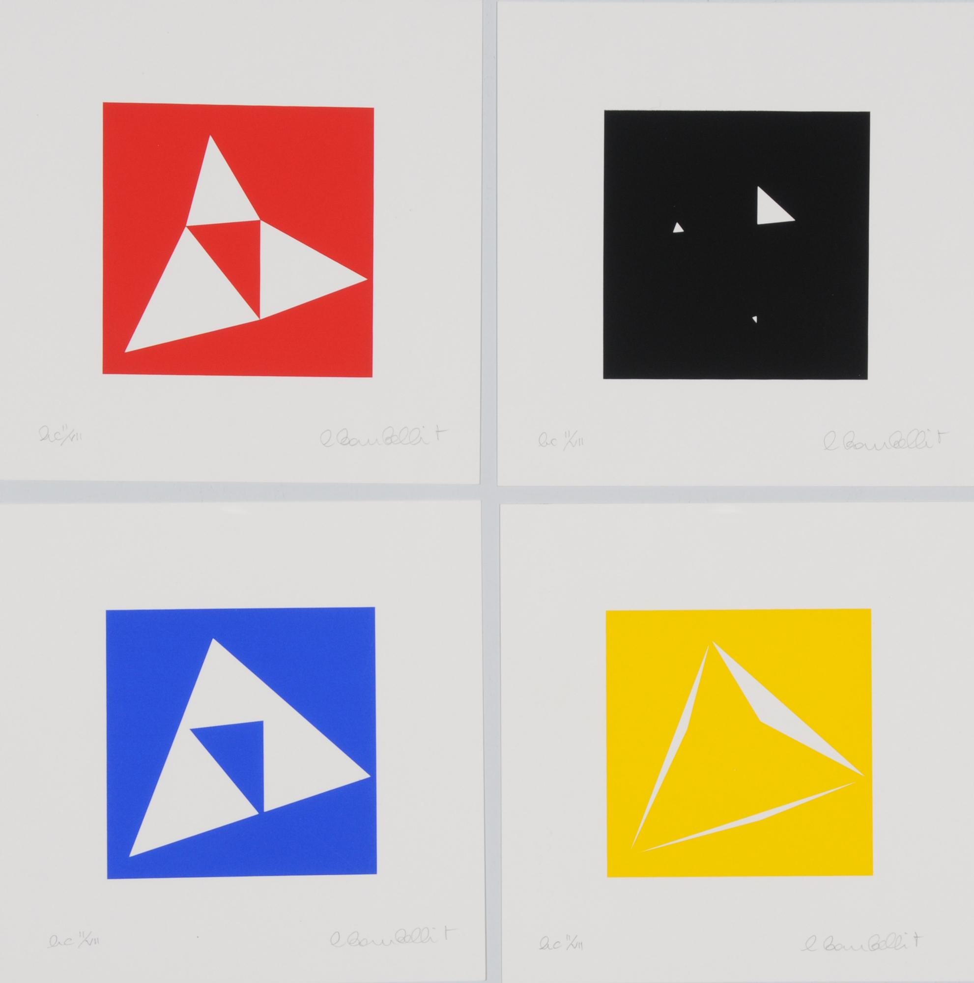 Bombelli Tiravanti Lanfranco, 3 folders: Quartetto pitagorico numero due, 2000; Quartetto pitagorico numero tre, 2000; Quartetto ventuno.a, 2002