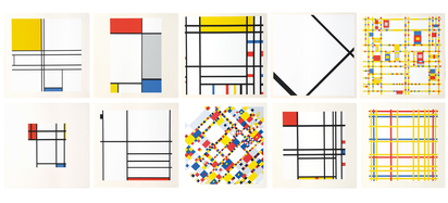 Mondrian Piet, Portfolio. A Portfolio of 10 Paintings