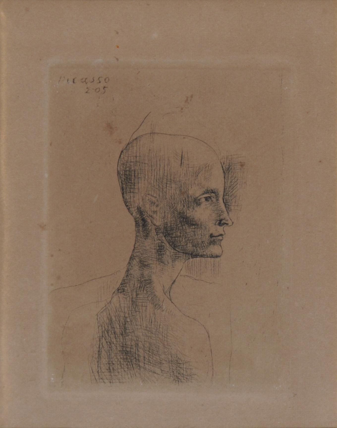 """Picasso Pablo, Buste d'homme, from """"La suite des saltimbanques"""""""