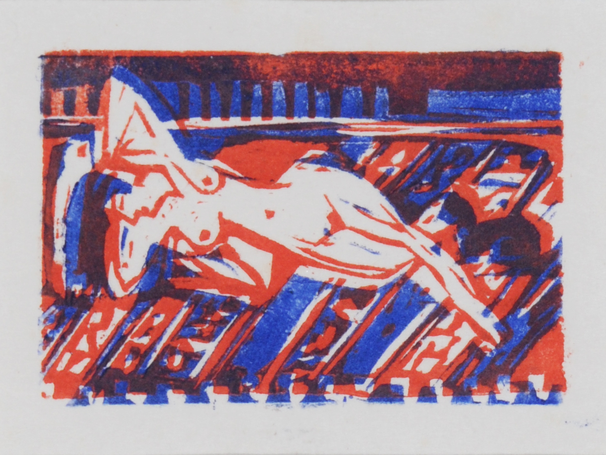 Kirchner Ernst Ludwig, Reclining Nude Girl with Cat