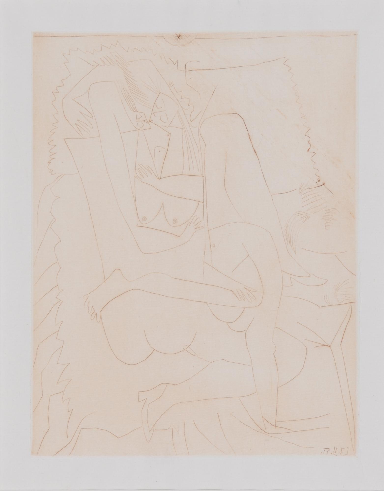 """Picasso Pablo, Le couple, from """"Dons des féminines"""" von Valentine Penrose"""