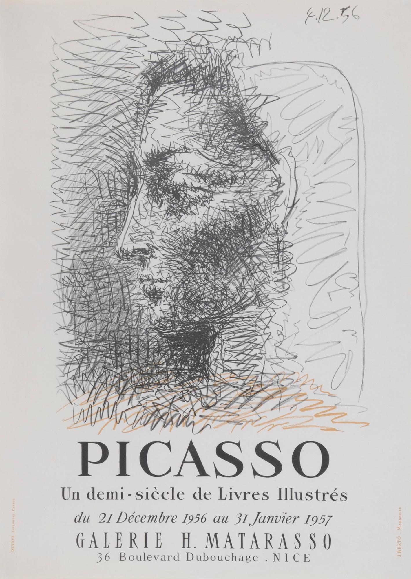 Picasso Pablo, Poster. Un demi-siècle de livres illustrés