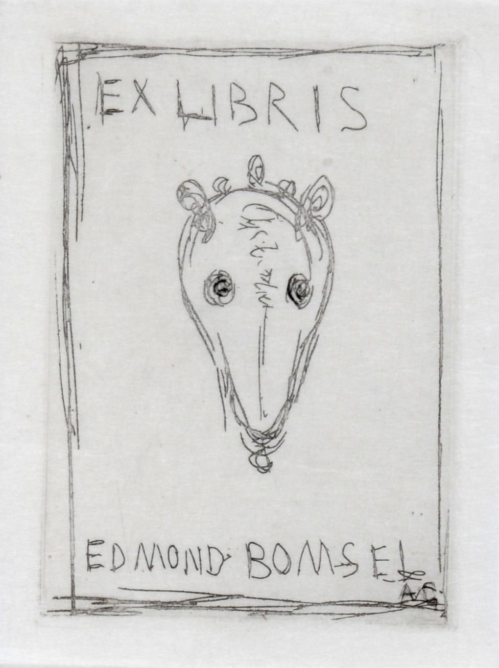 Giacometti Alberto, Ex Libris Edmond Bomsel