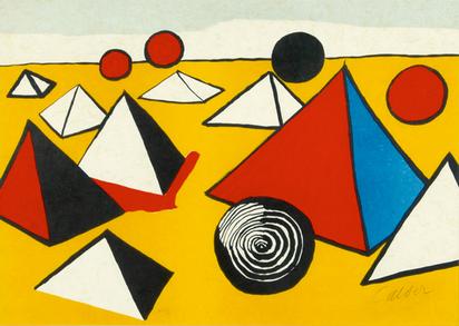 """Calder Alexander, Sheet from """"La mémoire élementaire"""""""